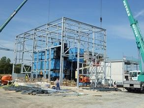 Biomasse Kraftwerk Wiesmoor Stahlbaukonstruktion 293x220