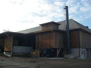 Biomasse Trocknung Brennstoffbunker mit Feuerung 293x220