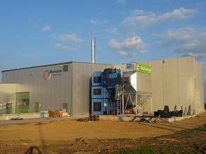 Biomasse Fernwärme Kesselhaus Bestand und Neu 293x220