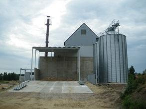 Biomass drying building with silo 293x220
